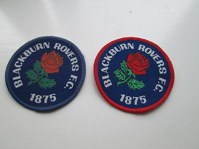2 (Two) Different Blackburn Rovers F.c. Sew  On Fabric Badges - New / Unused