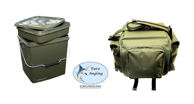 Trakker Carp Fishing NEW 13L Square Bucket & NXG Bait Bucket Bag Deal