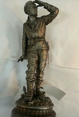 antique french statue by charles anfrie -sailor