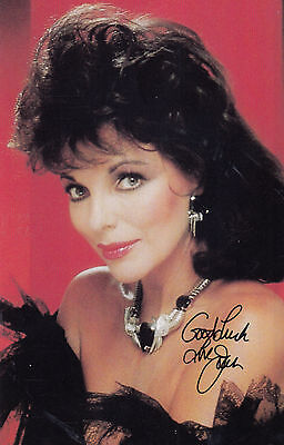 Joan Collins Dynasty Signed Photo