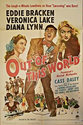 Out Of This World (1945) Classic Sexy Veronica Lake * Orig 27X41 1-Sheet Poster!