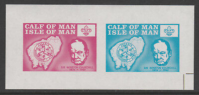 IOM Calf of Man 6058 - 1973  SCOUTS & CHURCHILL  m/sheet unmounted mint