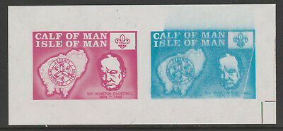 IOM Calf of Man 6060 - 1973  SCOUTS & CHURCHILL  m/sheet unmounted mint