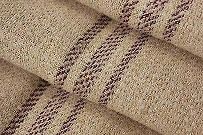 32 YD Grain sack material fabric Vintage Grainsack red stripe upholstery fabric