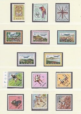 Macao 1960-1977 complete collection of commemoratives MNH