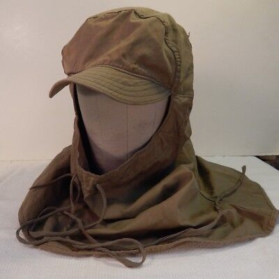 WWII U.S. Army HOOD, CLOTH, Model 1941, Field Cap, Size LARGE 7 ½, Nice Cond.