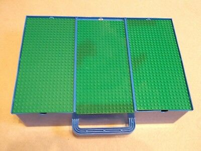 Vintage Lego Storage Box With Carry Handle And Base Boards
