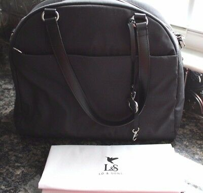 Lo and Sons The OMG Medium Gray Overnight Heather Twill Bag NEW IN Original BOX