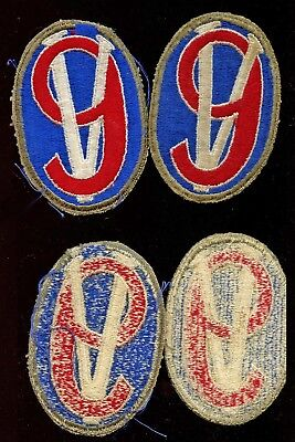WWII WW2 US Patch Lot-95th Infantry Division WHITE BACK, Unfinished LOT OF 2 PCS