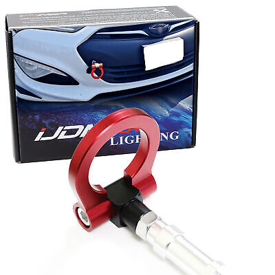 Red Track Racing Style Aluminum Tow Hook Ring For 10-up Hyundai Genesis Coupe