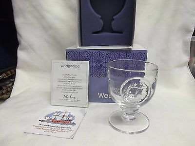 Limited Edition Hand Made Wedgwood Glass Mayflower Goblet Boxed COA
