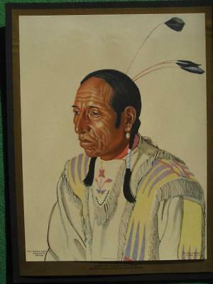 Native American Indian Art Print Great Northern Railway Shot On Both Sides Chief
