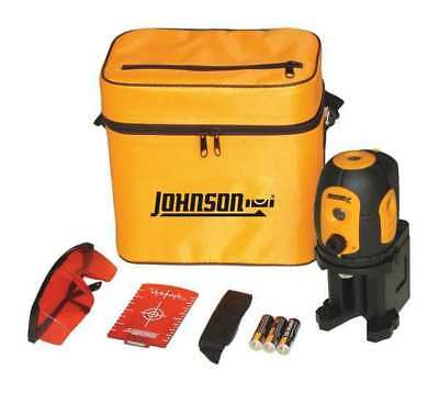 JOHNSON 40-6680 Line/Dot Laser Level, Int/Ext, Red, 200 ft.