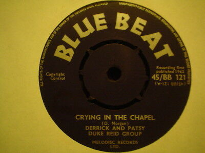 Uk Blue Beat Bb 121-Derrick And Patsy-Crying In The Chapel/come Back My Love-Vg+