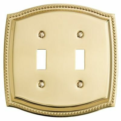 Baldwin 4790.CD Polished Brass Rope Design Double Toggle Solid Brass Switch