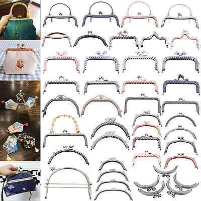 19Style Metal Coin Purse Frame Clutch Handle Bag Kiss Clasp DIY Craft Handmade