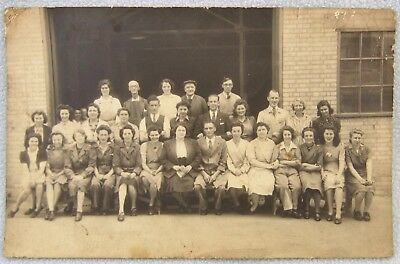 WW2 Postcard Sized Photo Short Brothers Women Factory Workers Rochester Kent