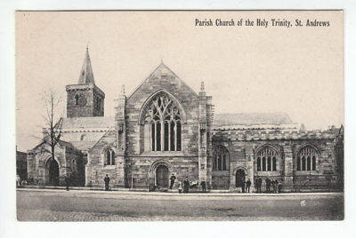 People At Parish Church Of The Holy Trinity St Andrews Fife Early 1900's