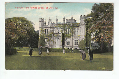 People On Putting Green Kinburn House St Andrews Fife 1920  DeBrach Dalkeith Rd