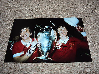12x8 PHOTO HAND SIGNED PHIL NEAL & ALAN KENNEDY LIVERPOOL LEGENDS EUROPEAN CUP