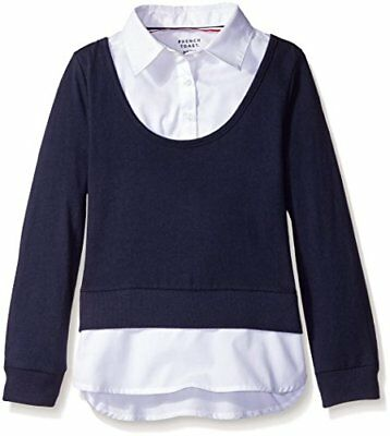 French Toast Girls' Long Sleeve 2-fer with Rib New