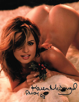 KAREN McDOUGAL 1998 PLAYBOY PLAYMATE OF THE YEAR SEXY SIGNED PHOTO  (B)