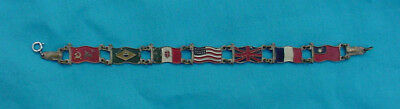 Wwii Awesome Allied Nations Flag Sweetheart Bracelet
