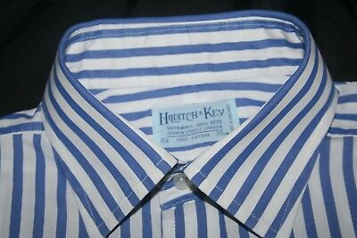 Hilditch & Key, Jermyn St Est1889 Bengal Striped, Classic Fit 15.5 Excellent