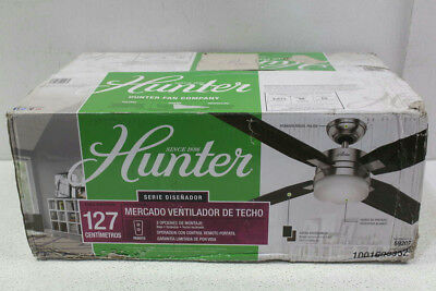 "Hunter Mercado 50"" Ceiling Fan with Light Kit 59207"