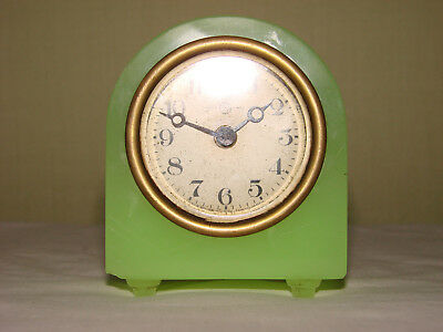 U V Green Glass Art Deco Glass Clock Body