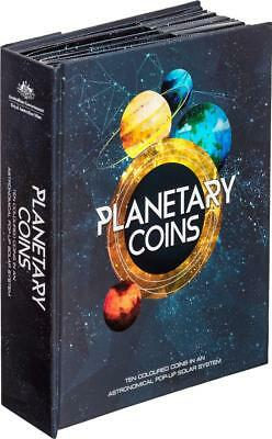 2017 Australian Planetary Coins Collection - 10 Coins in Beautiful Presentation