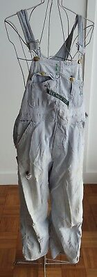 "Vintage Coveralls * Distressed Destroyed Juniors S  #2 * 32"" waist * 27"" inseam"