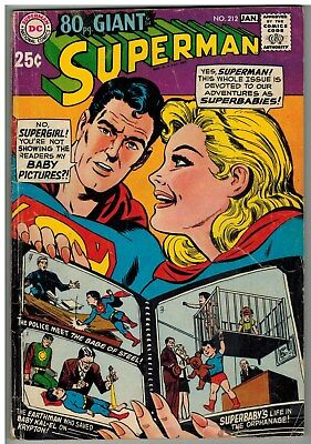 Superman #212 1968 Dc Silver Age 80 Page Giant!