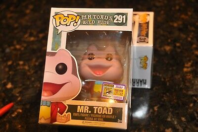Sdcc Funko 2017 Rare Exclusive Mr. Toad #291 Limited Edition 1500