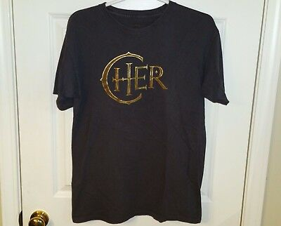 CHER The Colosseum Caesar's Palace Las Vegas Concert T-Shirt Adult Size Medium