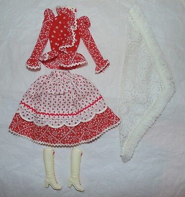 Vintage 1971 Barbie Country Music Outfit 1055 Dress Blouse Boots Shawl MOD VHTF