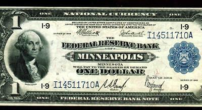 $1 1918 (( Minneapolis )) National Currency ** MORE CURRENCY FOR SALE **
