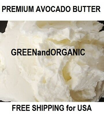 1/4Lb Premium Organic AVOCADO BUTTER 100%Pure RAW Fresh Natural Cold Pressed 4oz