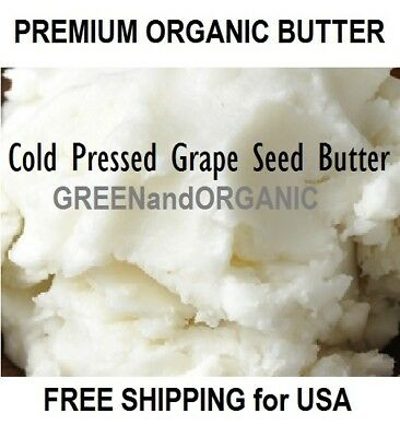 2 oz Premium Organic GRAPE SEED BUTTER 100% Pure RAW Fresh Natural Cold Pressed