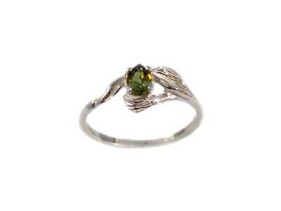 RARE 19thC Antique 1/3ct Demantoid Garnet Ancient Persia Royal Gem Romans Celts