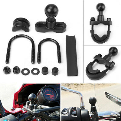 "RAM U-Bolt Motorcycle Bike Handlebar Mount Base 1"" Ball for garmin Zumo 500 550"