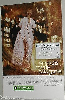 1970 Addressograph advertisement, with Carte Blanche Credit Card