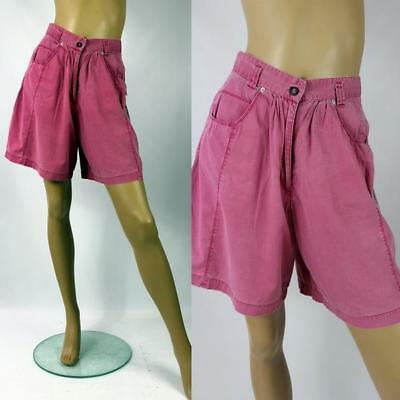 1980s Vintage Pink Spin Off Cotton High Waisted Festival Shorts Size 8/10