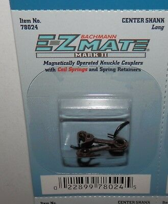 Bachmann HO Scale E-Z Mate Mark II Center Shank Long Coupler (1 set) #78024 NIP