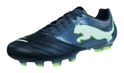 Puma PowerCat 1.12 FG Mens Leather Football Boots - Black - RRP £129.95