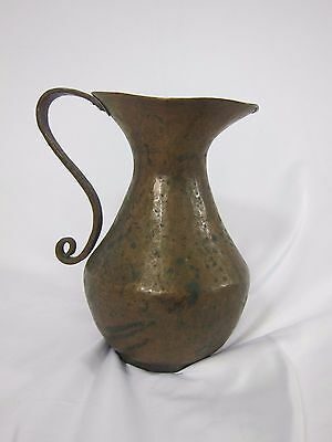 Antique Hand Forged Copper Water Pitcher