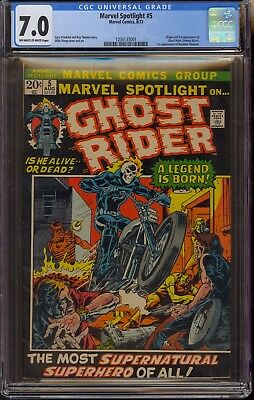 Marvel Spotlight #5 CGC 7.0 F/VF 1st Appearance Johnny Blaze Ghost Rider 1972