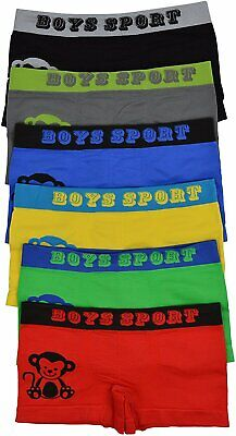 ToBeInStyle Boy's Pack of 6 Graphics Boxer Briefs