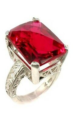 Red Topaz Ring 19ct – Ancient Egypt Anti-Evil Red Sea Island Gem of Sun God Ra