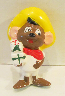 Looney Tunes 1978 Speedy Gonzales Figural Ceramic Christmas Ornament By Grossman